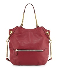 Selina Chain Shoulder Bag Burgundy Oryany