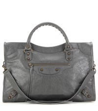 Balenciaga Classic City Leather Tote Grey