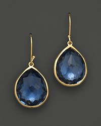 Ippolita 18K Gold Rock Candy Teardrop Earrings In London Blue Topaz