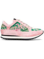 Charlotte Olympia Work It Flamingo Sneakers Pink And Purple