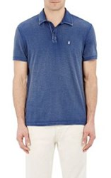 John Varvatos Star U.S.A. Peace Sign Polo Shirt Blue
