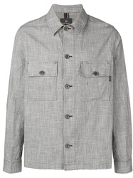 Paul Smith Ps Button Up Denim Jacket Grey
