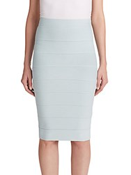 Bcbgmaxazria Leger High Waist Bandage Skirt Blue