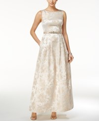 Jessica Howard Embellished Boat Neck Gown Pink