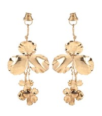 Balenciaga Brass Earrings Gold