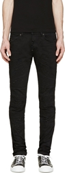 Diesel Black Gold Black Distressed Type 255 Biker Jeans