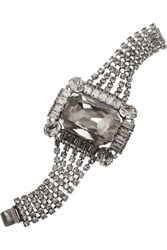 Tom Binns Rhodium Plated Crystal Bracelet