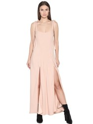 Attico Crepe Envers Satin Slip Dress With Ties