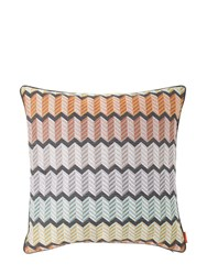 Missoni Waterford Viscose Blend Jacquard Pillow Multicolor
