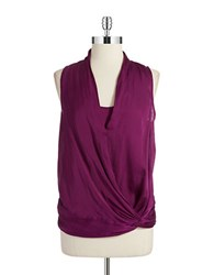 Kenneth Cole Draped Shell Purple Lily
