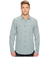 Royal Robbins Long Distance Traveler Long Sleeve Shirt Lead Men's Long Sleeve Button Up Gray