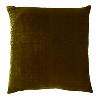 William Yeoward Paddy Velvet Cushion 50X50cm Olive