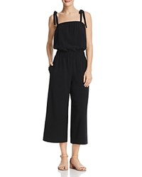 Dylan Gray Cropped Wide Leg Jumpsuit Black