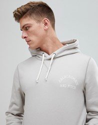 Abercrombie And Fitch Chest Logo Hoodie In Stone Cream