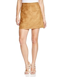 Sanctuary Easy Mod Faux Suede A Line Skirt Dark Real Khaki