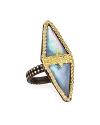 Armenta Old World Double Triangle Triplet Diamond Ring