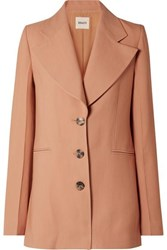 Khaite Mckenna Twill Blazer Antique Rose