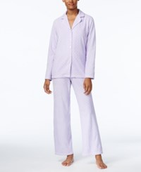 Charter Club Printed Fleece Pajama Set Only At Macy's Lilac Dots