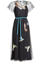 Red Valentino R.E.D. Embroidered Maxi Tulle Dress