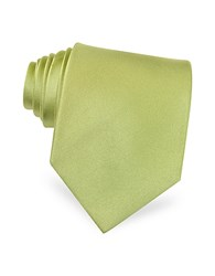 Forzieri Solid Green Extra Long Tie Light Green