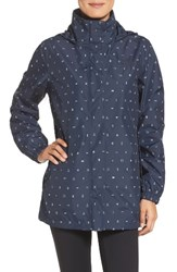 The North Face Women's 'Resolve' Waterproof Parka Urban Navy Uncharted Print