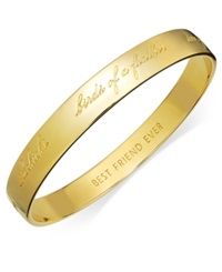 Kate Spade New York Bridesmaid Engraved Idiom Bangle Bracelet Gold Tone