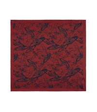 Vivienne Westwood Sketch Orb Jacquard Pocket Square Red