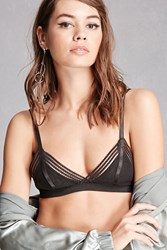 Forever 21 Rehab Shadow Stripe Bralette Black