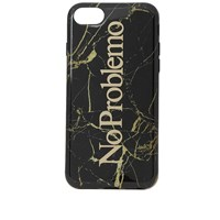 Aries No Problemo Marble Iphone 8 Case Black