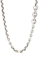 Hoorsenbuhs Tri Link Chain Necklace Silver