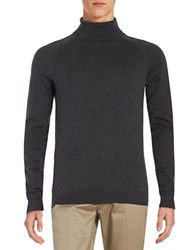 Selected Cotton And Silk Turtleneck Anthracite
