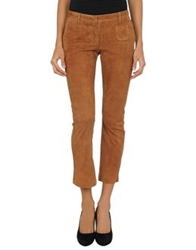 True Royal Leather Pants Brown