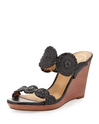 Luccia Leather Wedge Sandal Black Jack Rogers