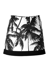 Fausto Puglisi Palm Tree Mini Skirt