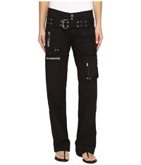 Johnny Was Poplin Cargo Pants Black Edge Women's Casual Pants