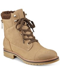 Tommy Hilfiger Omar2 Lace Up Booties Women's Shoes Taupe
