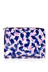 Topshop Marcus Leaf Large Wash Bag Pink