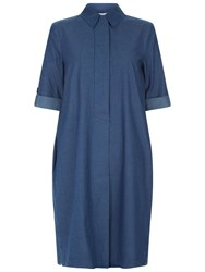 Hobbs Rosalind Tunic Dress Blue