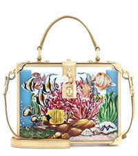 Dolce And Gabbana Box Clutch In Plexiglas Leather Multicoloured