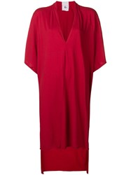 Lost And Found Rooms Plunge Neck Dress Red