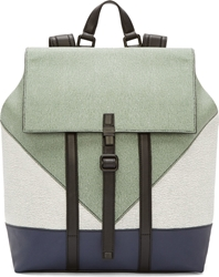 Kenzo Sage Grained Calf Leather Colorblock Backpack