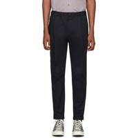 Paul Smith Ps By Navy Elasticized Waistband Trousers