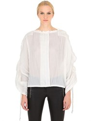 Loewe Pleated Cotton Ramie Top