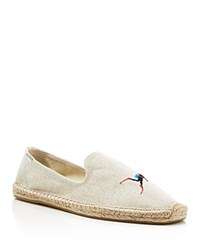 Soludos Embroidered Smoking Slipper Espadrilles Sand Beige