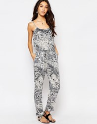 Vila Boho Lace Trim Jumpsuit Multi