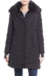 Women's Nanette Lepore Faux Fur Lined Quilted Coat Black