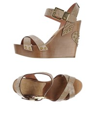 Twin Set Simona Barbieri Footwear Sandals Women Dove Grey