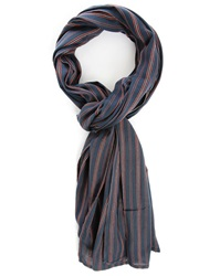 Denim And Supply Ralph Lauren Indigo Blue Stripes Scarf