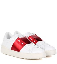 Valentino Garavani Open Leather Sneakers White