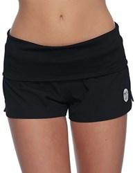 Body Glove Solid Foldover Vapor Boardshorts Black